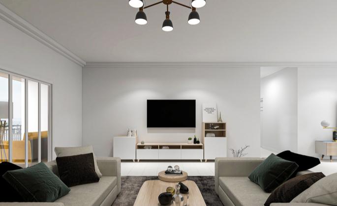 fotografia de uma sala de estar