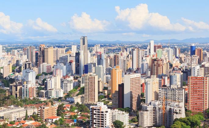 Empreendimentos em Curitiba vistos de cima
