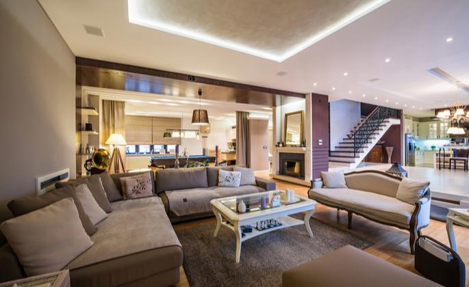 iluminação ideal na sala de estar - CIMA