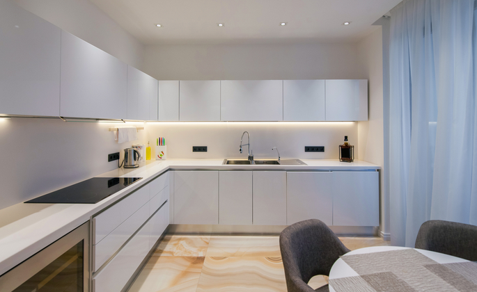 cozinha moderna com iluminação perfeita - CIMA