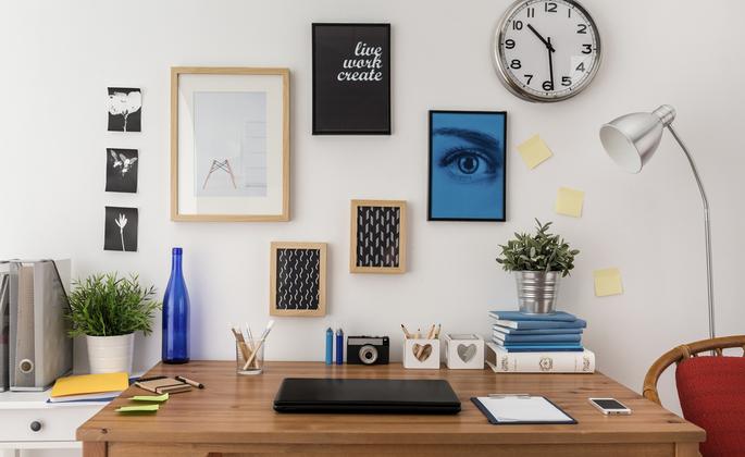 quadros na decoração de home office - CIMA