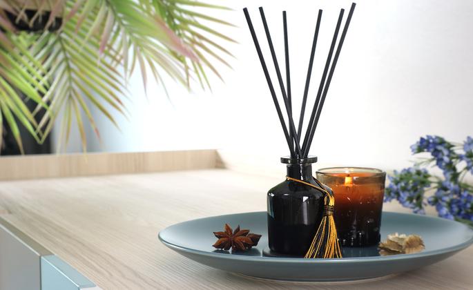 óleos essenciais sobre a mesa