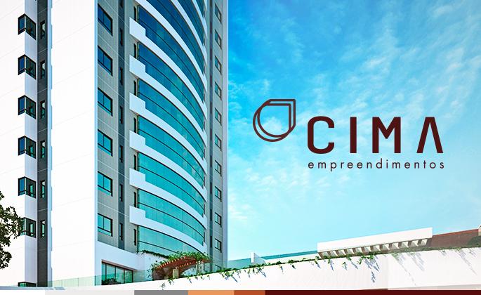 Empreendimento Cima e ao lado o logotipo
