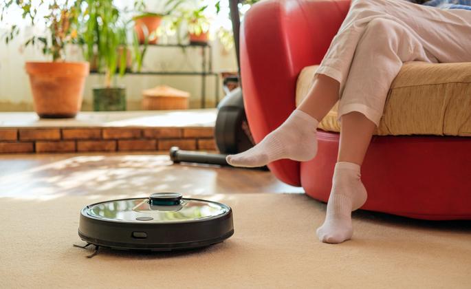 robô aspirador para limpeza da casa